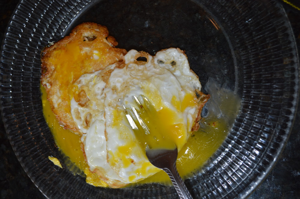 friedn egg with yolk