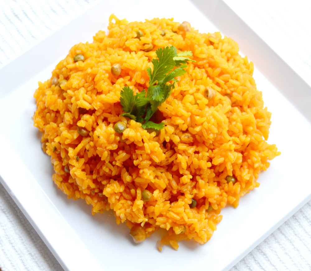 Arroz Con Gandules ( rice with green pigeon Peas) |